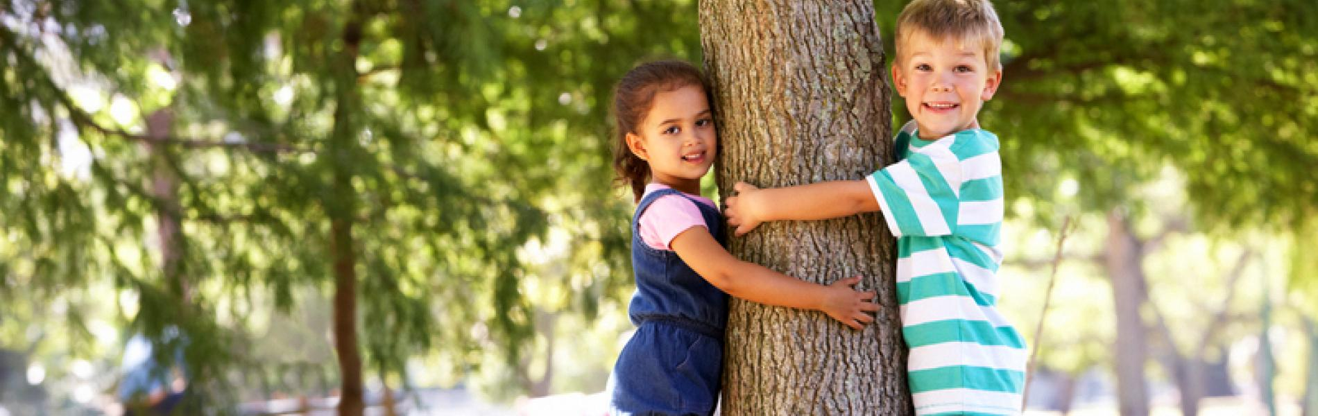 Backyard Saturday - Hug a Tree Day