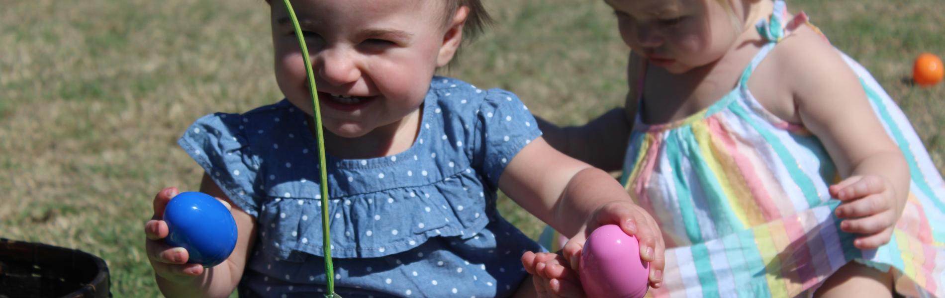 toddler egg hunt