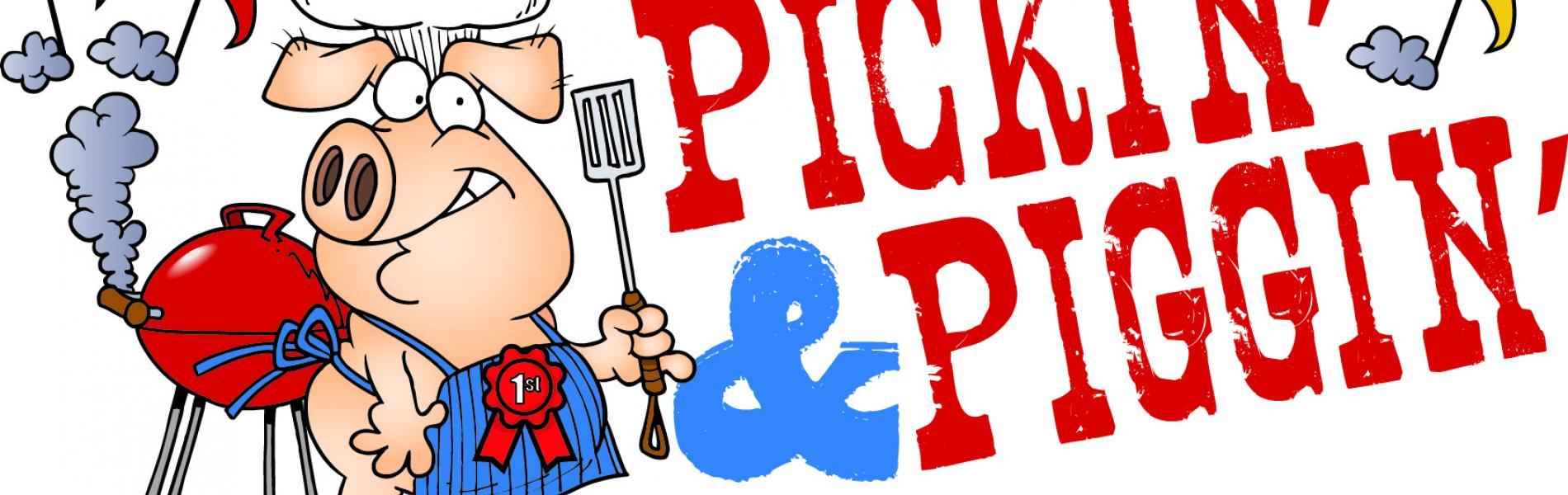 Pickin' & Piggin' Logo
