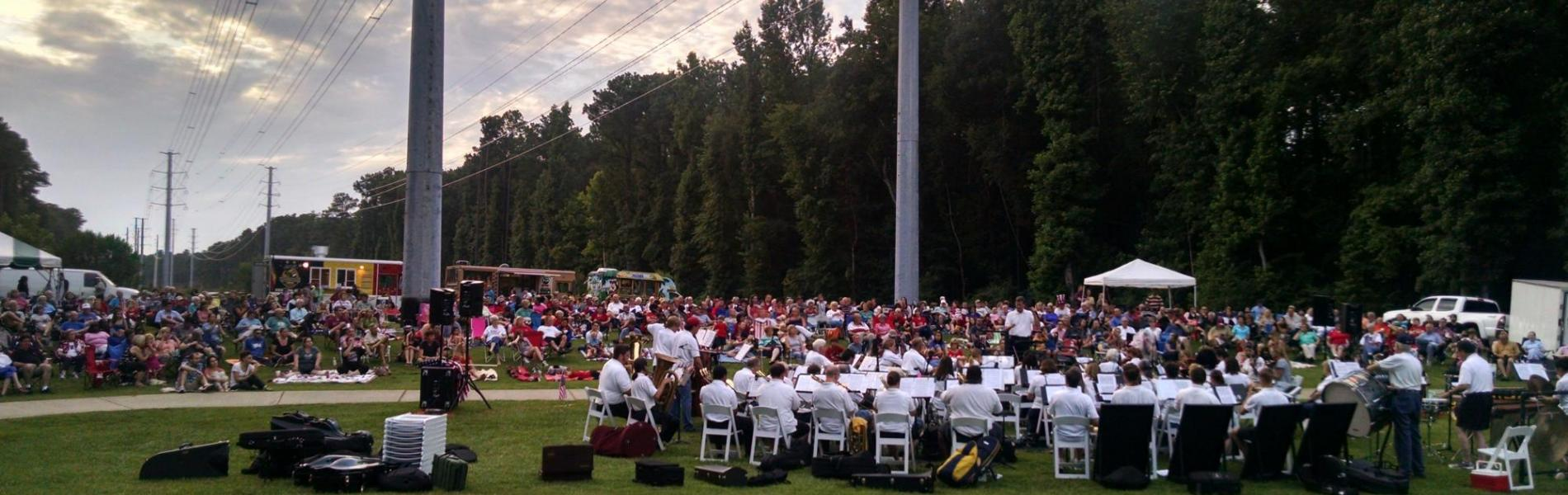 Symphony performance in the park