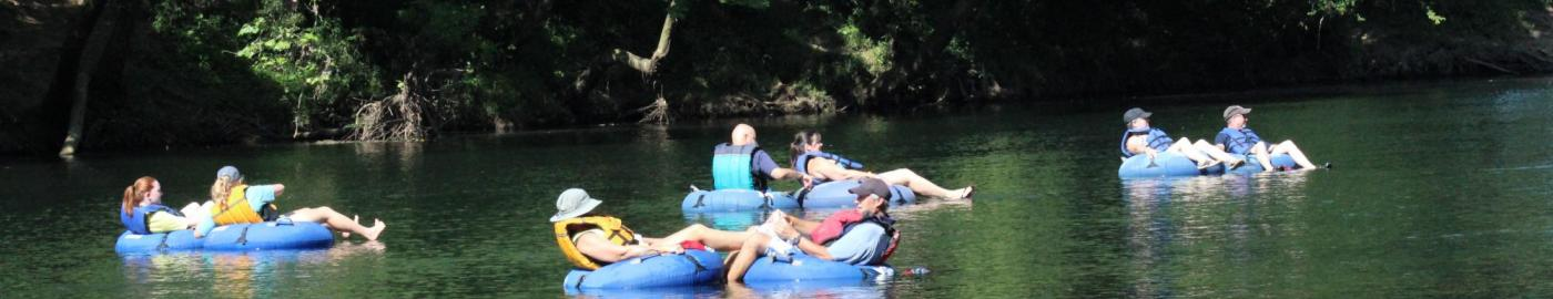 Tubing at Saluda Shoals Park